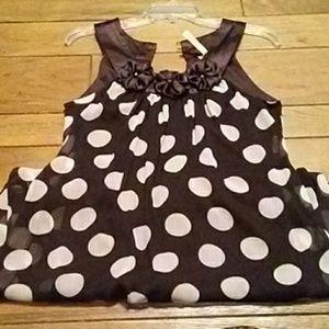 Heart and Soul brown polka dot dress